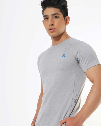 Zymrat grey performance wear short sleeve t-shirt