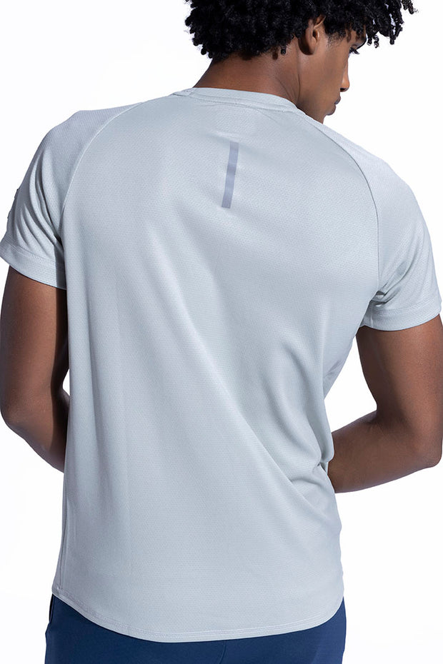 Silver Yoke Athleisure T-Shirt With Ultra Soft Touch