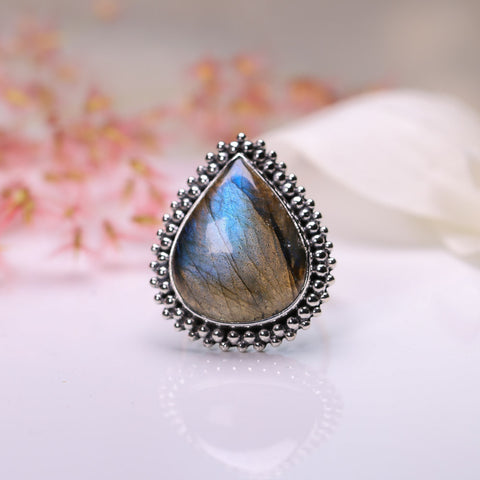 Labradorite Ring - Moon Child