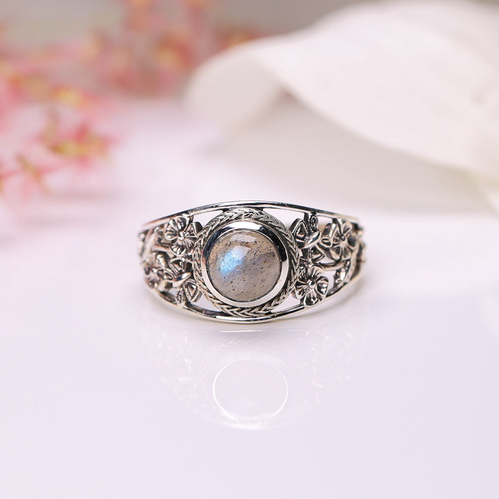 Labradorite Ring - Blossom Bliss