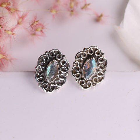 Labradorite Earrings - Starlet Studs