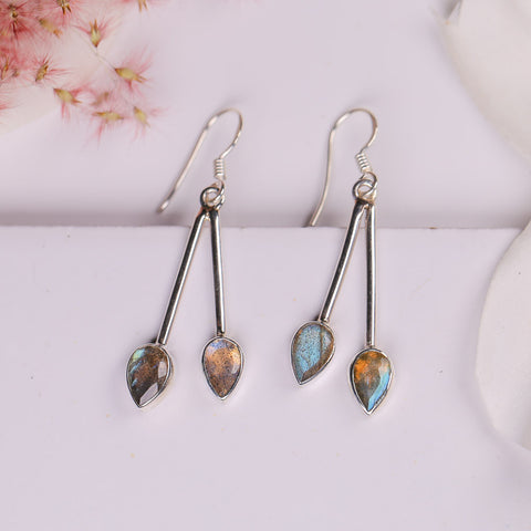Labradorite Earrings - Sol Studs