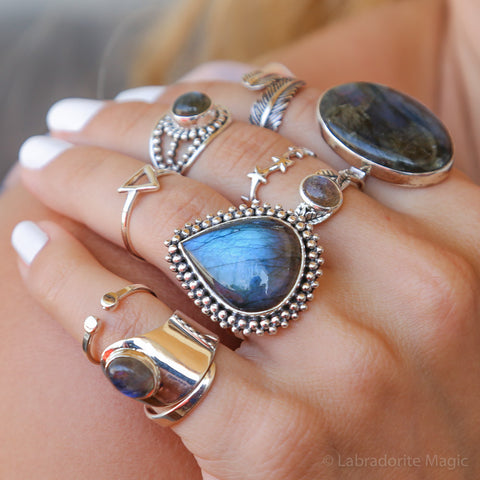 Labradorite Ring - Summer Storm