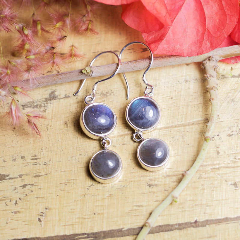 Labradorite Earrings - Azure Twins