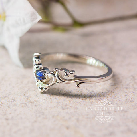 Labradorite Ring - Blue Siren