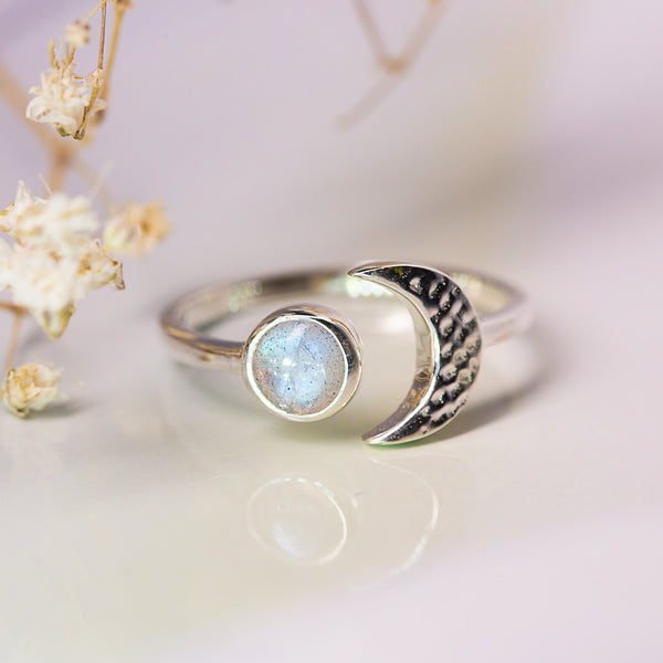 Labradorite Ring - Collided Moon