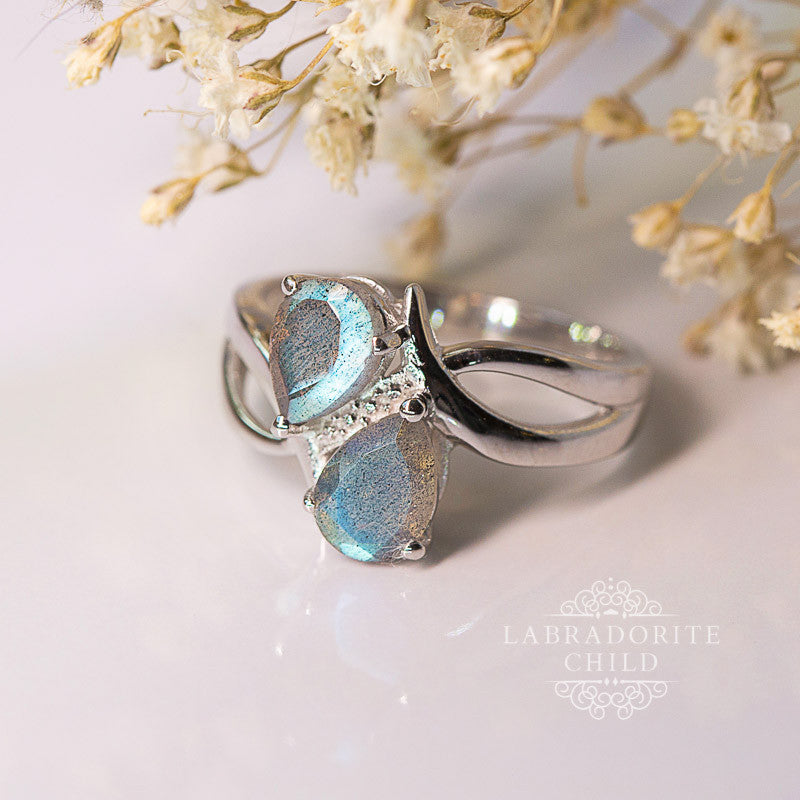 Labradorite Ring - Double Delight