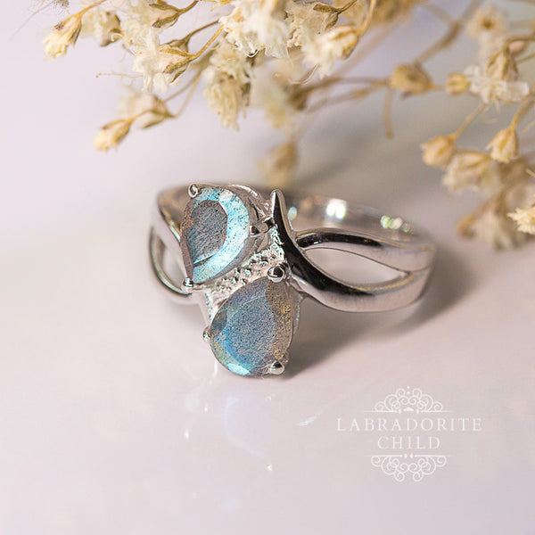 Labradorite Ring - Double Dose