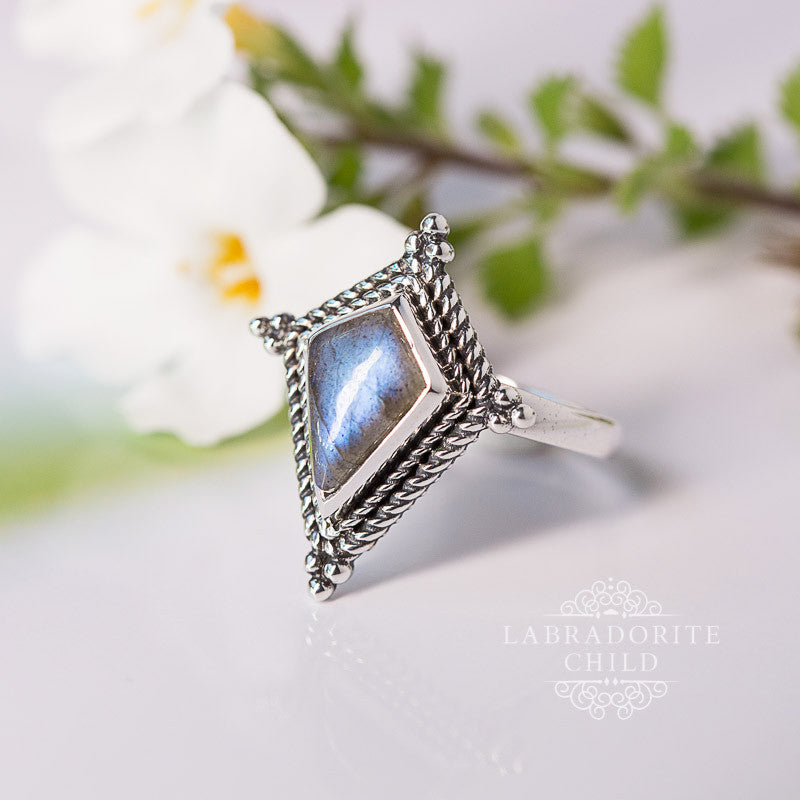Labradorite Ring - Interstellar