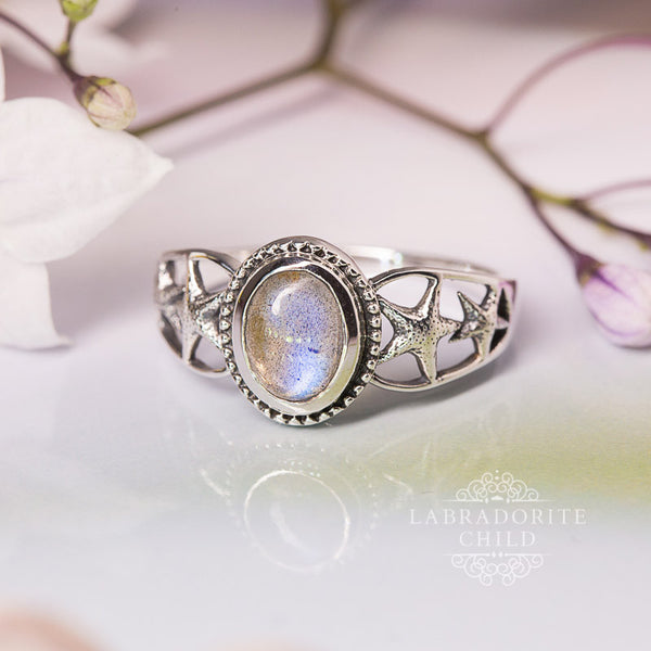 Labradorite Ring - Fishing Stars