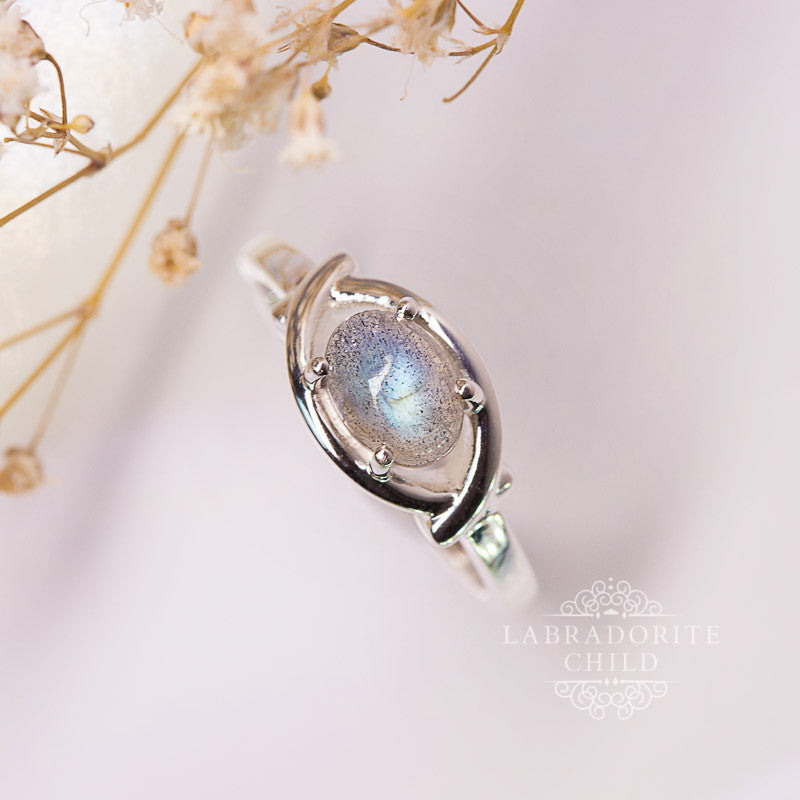 Labradorite Ring - Holy Shield