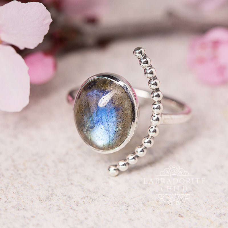 Labradorite Ring - Open Apollo