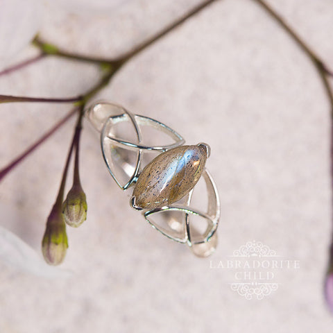 Labradorite Ring - Prism Light