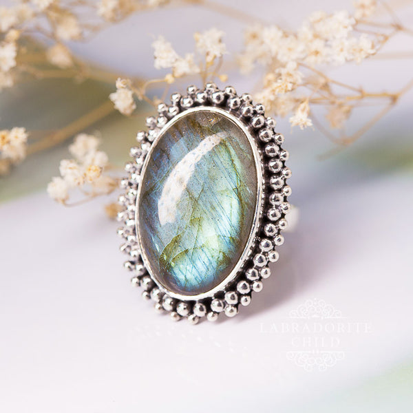 Labradorite Ring - Holy Halo