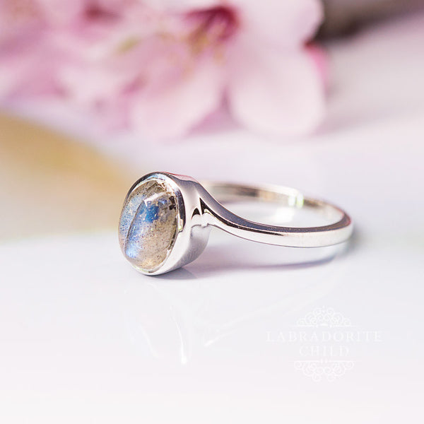 Labradorite Ring - Shielded Thunder
