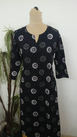 BLACK COLOR COTTON KURTIS YV