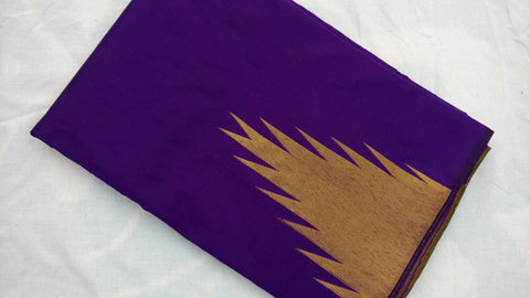 PURPLE COLOUR TEMPLE PATTERN ART SILK SAREE OF YV BRAND