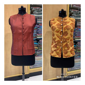 REVERSABLE COTTON SILK JACKET