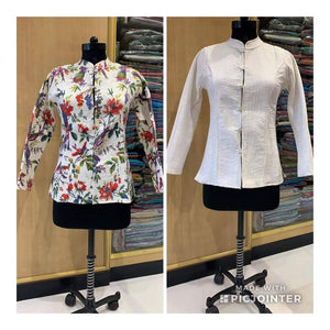 REVERSABLE COTTON SILK JACKET - EBUNTY