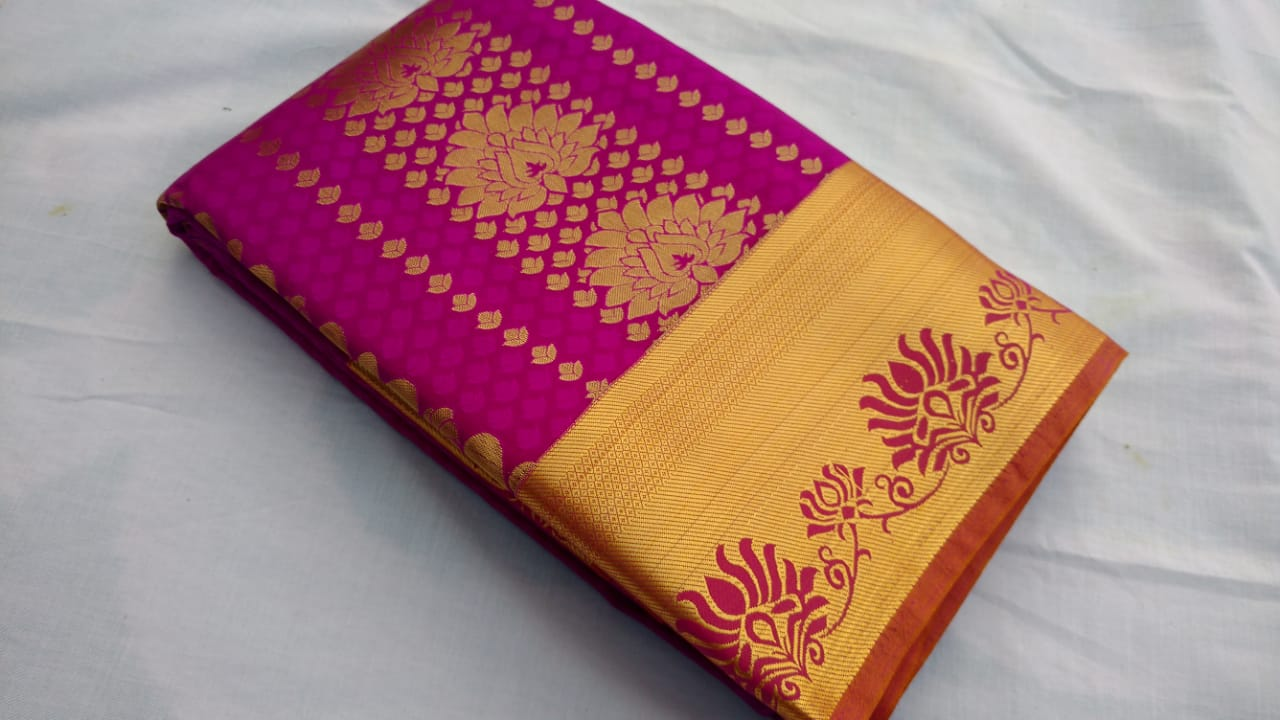 PURPLE COLOR ART SILK SAREE BRAND OF YV