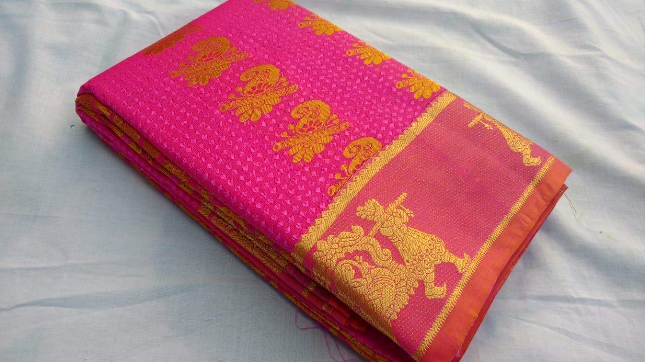 RANI COLOR ART SILK SAREE BRAND OF YV - EBUNTY