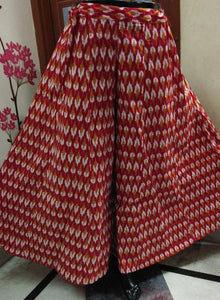RBEAT THE HEAT WITH  RED COTTON DIVIDED SKIRTS  OFBYV - EBUNTY