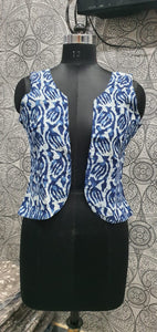 Trendy Blue / indigo colour cotton shrug for all kurti