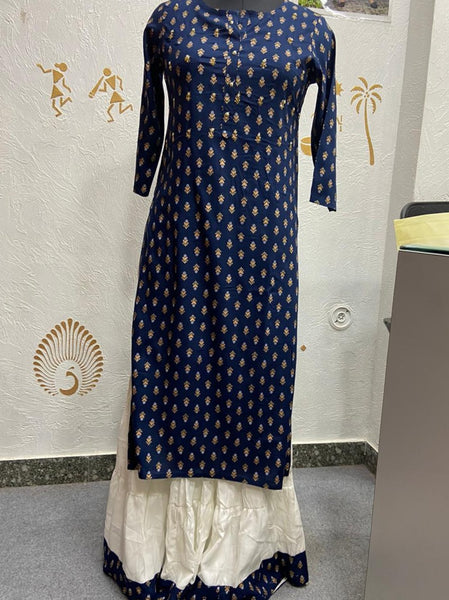 Beautiful Heavy Rayon Kurti with palazzo