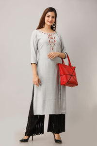 Cotton casual Kurti with hand work