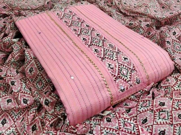 Soft Cotton materials with cotton duppata  for all seasons