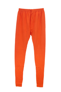 Orange color Free size 4 way Lycra cotton flexible leggings - EBUNTY