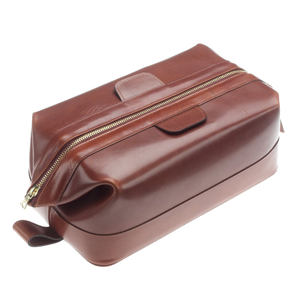 Leather Luxury Large Leather Wash Bag by Daines and Hathaway