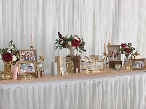 Blush & gold theme reception table package