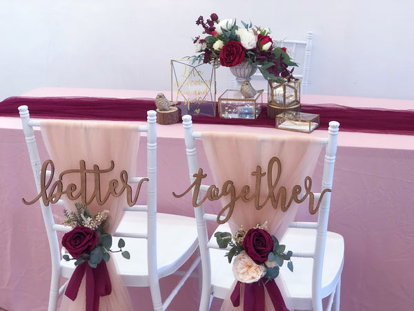Burgundy & blush theme solemnization package