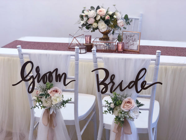 Rose gold glamour theme solemnization package