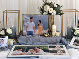 Dusty blue & gold theme photo display package