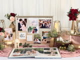 Blush & gold theme photo display table package