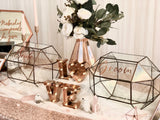 Enchanted rose gold theme reception table package