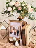 Rustic rose gold theme reception table package