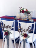 Burgundy & navy theme solemnization package