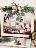 Burgundy & gold theme photo display table package