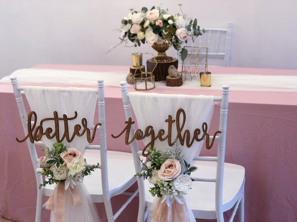 Rustic blush & gold theme solemnization package