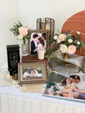 Vintage travel theme photo display table package