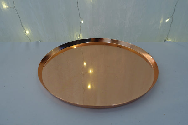 Rose gold round tray
