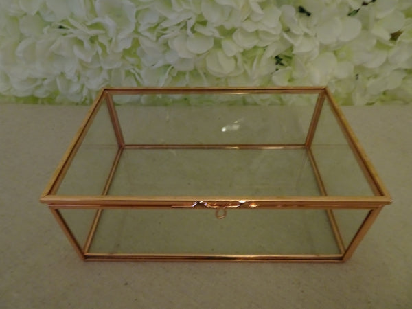 Rose gold glass box props crafts for Glass boxes for crafts