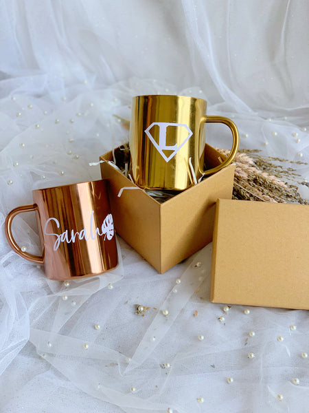 Cups with customised words
