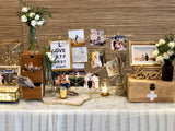 Blue & gold reception table package