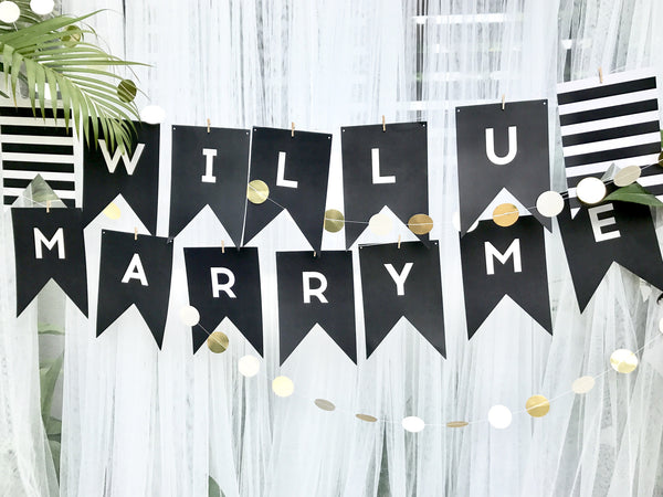 Black colour banner with customised words