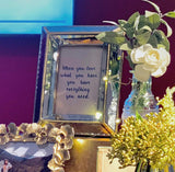 Gold glass photo frame