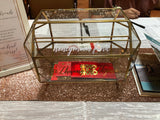Gold geometric glass ang bao box with slit